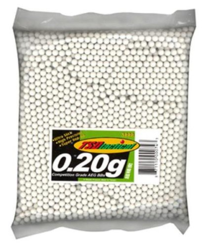 TSD Tactical 3,000 ct. Bag Plastic White Airsoft BBs (6mm, 0.20g)