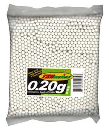 TSD Tactical 3,000 ct. Bag Plastic White Airsoft BBs (6mm, 0.20g)