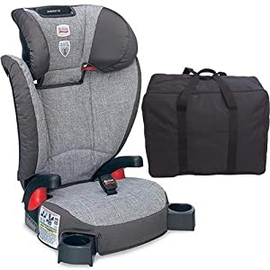 britax parkway sg belt positioning booster seat with a car seat travel bag. Black Bedroom Furniture Sets. Home Design Ideas