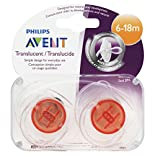 Avent Pacifiers, Orthodontic, Silicone, 6-18 M, 2 pacifiers