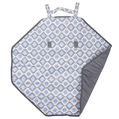 The Bumble Collection Bum and Tum Mini Mat, Sky Blue Montage, Medium
