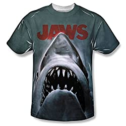 Jaws Poster All Over Print Front T-Shirt