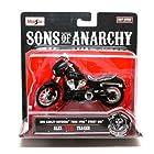 2006 Harley-Davidson FXDBI Dyna Street Bob * Alex Tig Trager * Sons of Anarchy 2014 Maisto 1:18 Scale Motorcycle