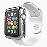 Apple Watch Case - Poetic [Clarity Series] Apple Watch 42mm Case - [Liquid Crystal] [Clear] Premium TPU Case for Apple Watch 42mm (2015) Crystal Clear (3-Year Manufacturer Warranty From Poetic)