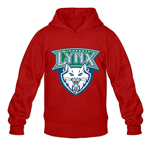Minnesota Lynx VAVD Men's 100% Cotton Hoodies Red Size XL (Lil Lynx compare prices)