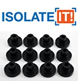 "Isolate It!: Sorbothane Vibration Isolation Bushing 50 Duro (.25"" ID - 1"" OD - .6"" Deep) - 12 Pack"