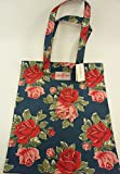 Cath Kidston NEW Cotton Book Bag Royal Rose Floral Navy