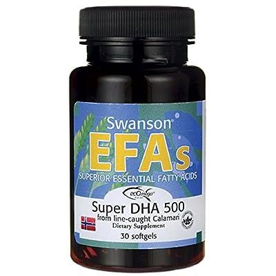 Swanson EFAs Super DHA 500 From Calamari (30 Softgels)