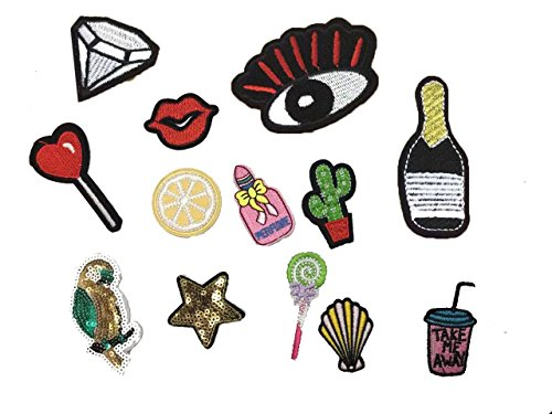 13pcs-lot-cloth-patches-garment-sequins-glitter-applique-diy-iron-on-embroidered-patch-set-red-lips-
