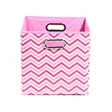 Modern Littles Rose Zig Zag Folding Storage Bin, Pink