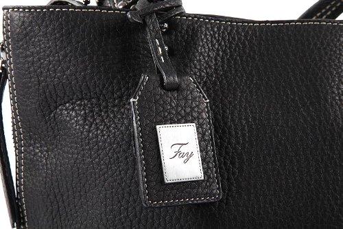 Fay, borsa shopping in pelle blu