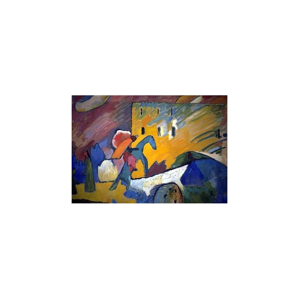 Kandinsky Art Reproductions and Oil Paintings Improvisation 3 Picture with Yellow Wall Oil Painting