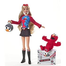 Elmo Fan Barbie? IEeeeeeeeeee!