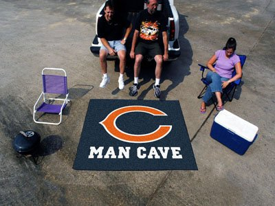 """Chicago Bears Man Cave Tailgater Rug 60""""x72"""" - FAN-14283"""