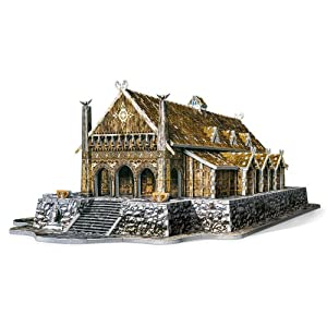 Wrebbit 3D Lord of the Rings Golden Hall Edoras 3D Puzzle