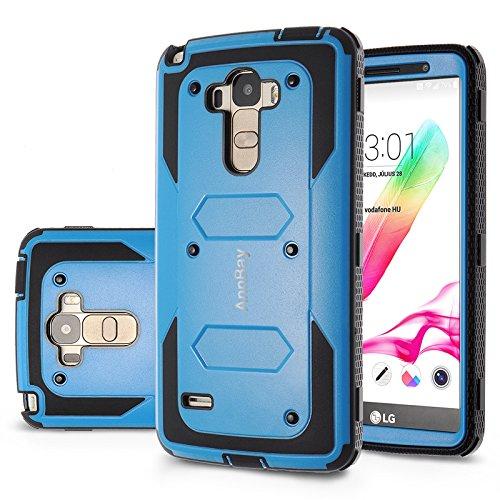 Click to buy LG G Stylo / LG G Stylus (LS770) Case,AnnBay(TM) for LG G4 Stylus 2in1 Hybrid FullBody Shock Abortion Amror Heavy Duty High Impact Case Cover (Blue/Black) - From only $41.93