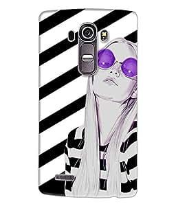 Fuson Trendy Girl Back Case Cover for LG G4 - D4041