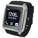 PGD Smartwatch Smart Bluetooth Watch Sync For Mobile Phone Smartphone Anti-lost (Black)