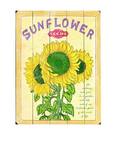 Sunflower Seeds Wood Wall Décor