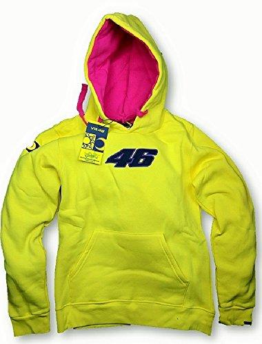 MotoGP Valentino Rossi-Felpa con cappuccio, da donna, colore: giallo Giallo giallo M