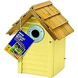 Gardman Beach Hut Nest Box Creamy Yellow