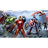 RoomMates JL1292M Ultra-Strippable Avengers Assemble Mural, 6-Feet x 10.5-Feet, 1-Pack