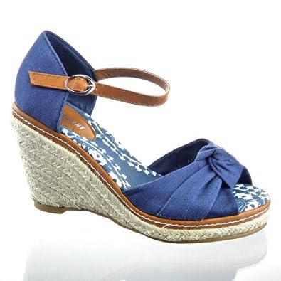 Kickly Chaussure Mode Sandale Escarpin Plateforme cheville femmes