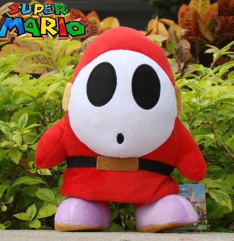 "1 X Super Mario Shy Guy Plush Toy Stuffed Toy 6"" - 1"