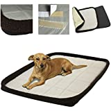 """Oxgord 24"""" by 18"""" Quite Time Bolster Dog Crate Bedding Pad with Slumber Bumber Rim, Medium"""