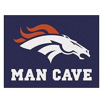 FANMATS 14296 NFL Denver Broncos Nylon Universal Man Cave All-Star Mat