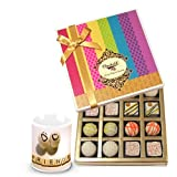 Valentine Chocholik Belgium Chocolates - Yummy Treat Of Truffles Chocolates Box With Friendship Mug