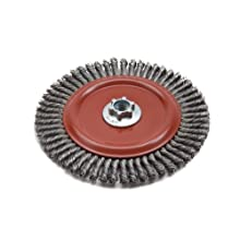 Norton Wire Wheel Brush, Threaded Hole, Carbon Steel, Stringer Knotted
