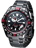 Seiko Superior #SSA113 Men's Black IP Stainless Steel Limited Edition Compass Bezel Automatic Watch