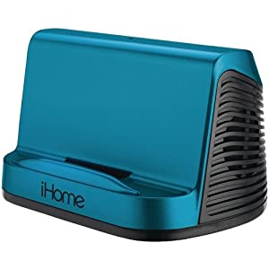 iHome iHM16L Portable Stereo Speaker System for iPad, iPod and MP3 Player, 3.5mm line-in  (Blue)