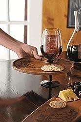 Wooden Wine Glass Holder Plate