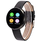 Lemfo Dm360 Bluetooth Smart Watch Smartwatch Heart Rate Monitor Pedometer Phone Mate Gesture Control for Android Ios (Black)