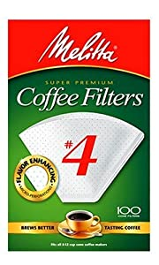 Melitta Cone Coffee Filters, White, No. 4, 100-Count Filters (Pack of 6) at Sears.com