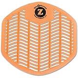 Impressions Paper 1493 Z-Screen Deodorizing Urinal Screen, Citrus Zest, Orange, 12/Box