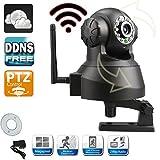Sricam Black Pan Tilt Wireless Audio Indoor P2P IP Camera Motion Detection 24-Hour Scan