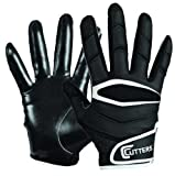 Cutters Gloves Youth C-TACK Revolution Football Gloves (Black, Large)