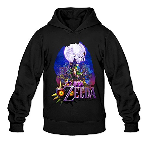 SOGA Men's Hoodies The Legend Of Zelda Majora's Mask Size S Black (Man Can Microwave compare prices)