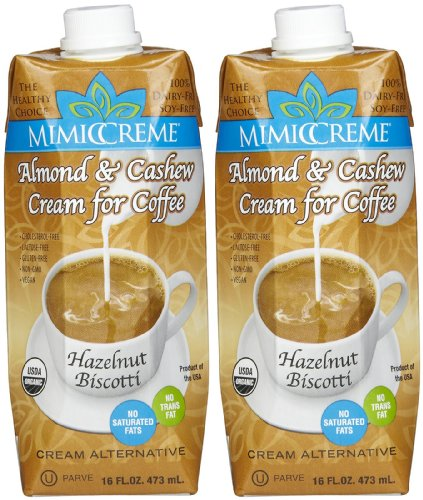 MimicCreme MIMICCREME Non-Dairy Hazelnut Biscotti Coffee Creamer, 16 oz Boxes, 2 pk