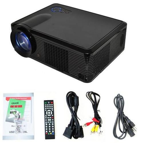 DB Power Black HTP 2000 LUMEN LED-33 LAMP LCD Projector HDMI USB TV Video 16:9 and 4:3 Home Theater Native Resolution:800 x 600 at Sears.com