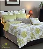 "300TC 100% Cotton Eco-Green Queen Size Duvet Cover, 88""x90"""