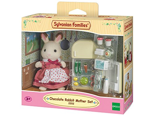 Sylvanian Families - 2202 - Poupées Et Accessoires - Maman Lapin - Chocolat / Réfrigérateur