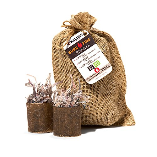 Walden Sure Fire Starters Burlap Gift Bag, 6 Starters (Resin Fireplace Logs compare prices)