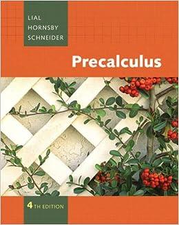 Blitzer precalculus homework help