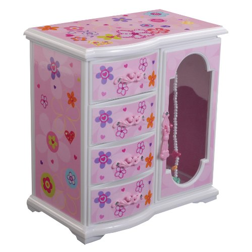 Mele & Co. Kelly Girl's Upright Musical Ballerina Jewelry Box (Jewelry Upright Box compare prices)
