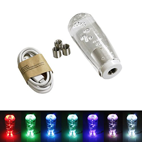 iJDMTOY (1) Lava Lamp Air Bubble Style RGB LED Illuminated Shift Knob Universal Fit For Car Truck (White Shift Knob Honda compare prices)