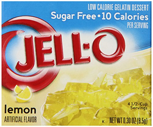 Jell-O Sugar-Free Gelatin Dessert, Lemon, 0.30-Ounce Boxes (Pack of 6)